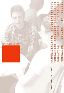 Jahresbericht 2012 der Schweizerischen Studienstiftung