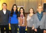 Die drei Suyana Stipendiaten der Schweizerischen Studienstiftung mit der Stiftungssrätin Yvonne Imholz-Hegglin und Claudia Fleischhacker von der Geschäftsstelle der Stiftung Suyana.und