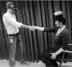 Experimenteller Aufbau der Körpertausch-Illusion